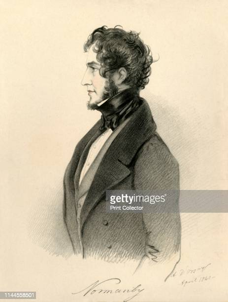 Normanby', 1840. Portrait of British Whig politician and writer Constantine Henry Phipps, 1st Marquess of Normanby . Phipps served as British...