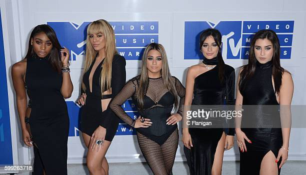 Normandi Kordei Dinah Jane Hansen Ally Brooke Camila Cabello and Lauren Jauregui of Fifth Harmony attend the 2016 MTV Video Music Awards at Madison...
