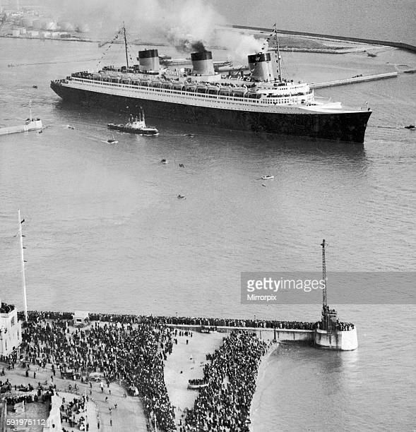 SS Normandie at Le Havre 30th May 1935