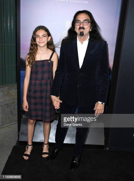 Normandie DiCaprio and George DiCaprio arrive at the LA Premiere Of HBO's Ice On Fire at LACMA on June 05 2019 in Los Angeles California