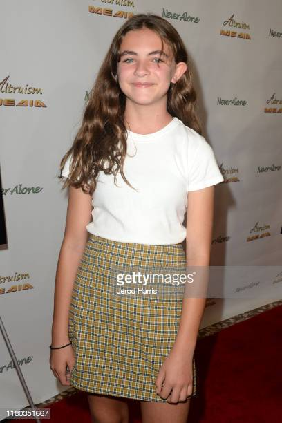 Normandie DiCaprio arrives at Special Screening of 'Never Alone' at Arena Cinelounge on October 10, 2019 in Hollywood, California.