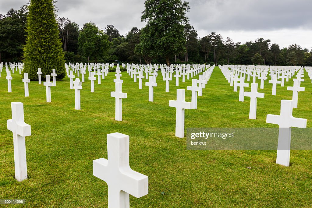 Normandy American Cemetery and Memorial in Saint Laurent sur Mer : Stock Photo