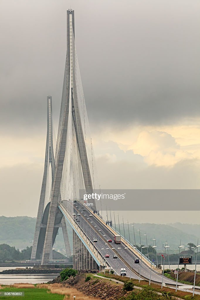 pont de normandie le nord de la france photo getty images. Black Bedroom Furniture Sets. Home Design Ideas