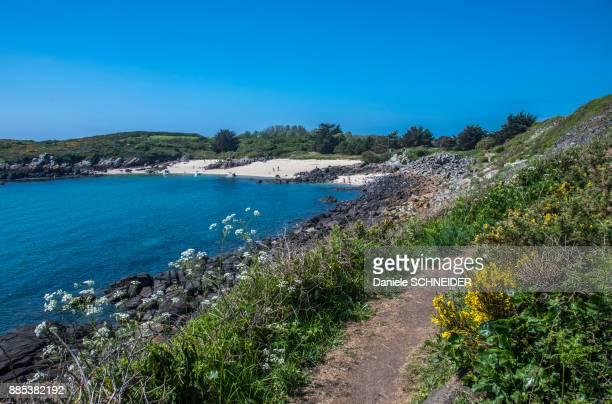 Normandy, Manche, the Grande Ile Chausey, littoral path