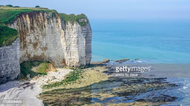 normandy - chalk rock stock pictures, royalty-free photos & images