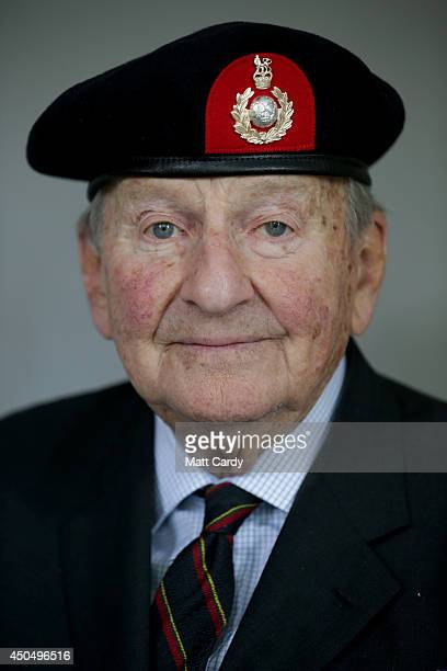 Normandy veteran John Brunel Cohen poses for a photograph at his home in Chelsea on May 14 2014 in London England On DDay June 6 1944 the 92yearold...