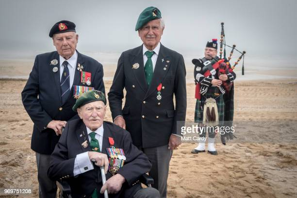 Normandy veterans Jack Quinn who was coxswain in a amphibious craft delivering frogmen in the early hours of DDay on Gold Beach Pat Churchill who was...