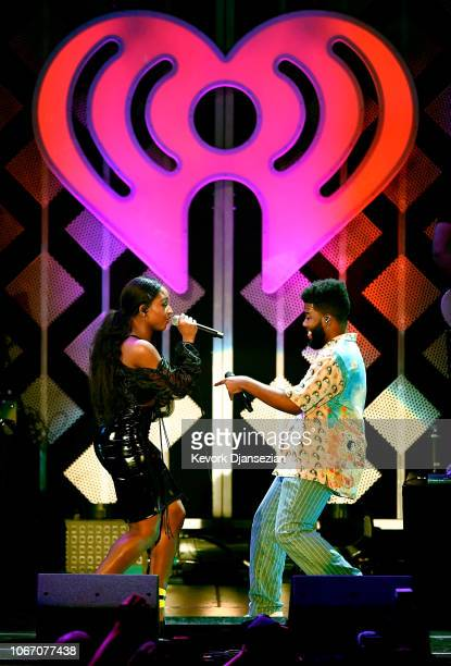 Normani and Khalid perform onstage during 1027 KIIS FM's Jingle Ball 2018 Presented by Capital One at The Forum on November 30 2018 in Inglewood...