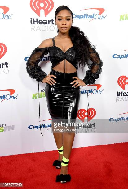 Normani arrives at KIIS FM's Jingle Ball 2018 Presented By Capital One at The Forum on November 30 2018 in Inglewood California