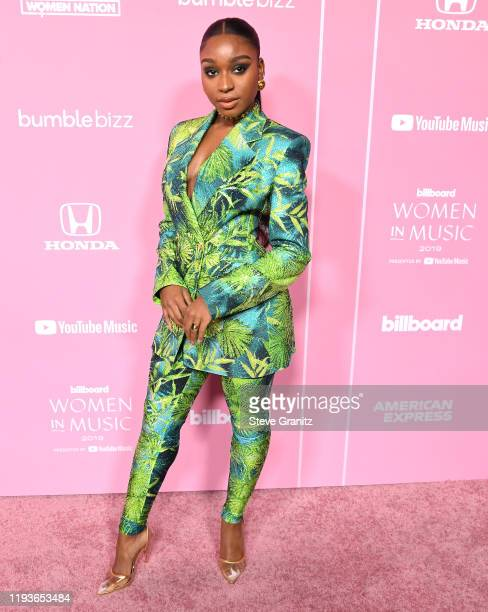 Normani arrives at the 2019 Billboard Women In Music at Hollywood Palladium on December 12 2019 in Los Angeles California