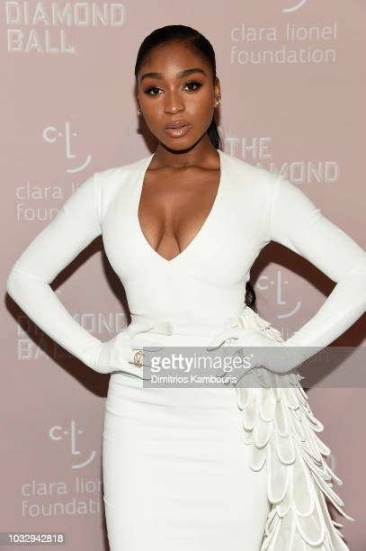 Normani attends Rihanna's 4th Annual Diamond Ball benefitting The Clara Lionel Foundation at Cipriani Wall Street on September 13 2018 in New York...