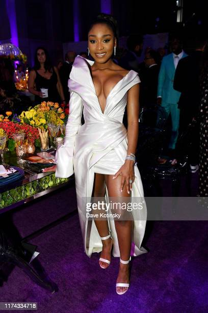Normani attends Rihanna's 5th Annual Diamond Ball Benefitting The Clara Lionel Foundation at Cipriani Wall Street on September 12 2019 in New York...