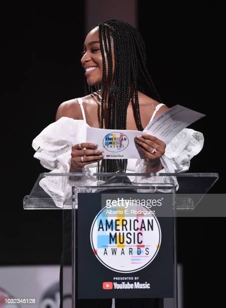 Normani attends the 2018 American Music Awards Nominations Announcement at YouTube Space LA on September 12 2018 in Los Angeles California