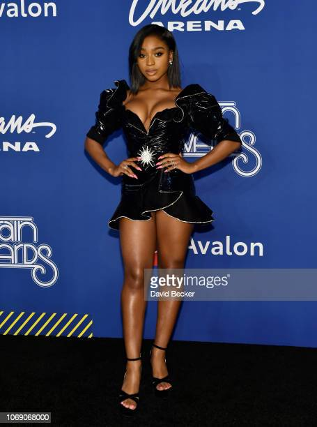 Normani attends the 2018 Soul Train Awards at the Orleans Arena on November 17 2018 in Las Vegas Nevada