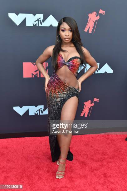 Normani attends the 2019 MTV Video Music Awards red carpet at Prudential Center on August 26 2019 in Newark New Jersey