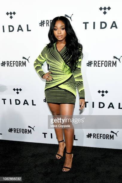 Normani attends the 4th Annual TIDAL X Brooklyn at Barclays Center of Brooklyn on October 23 2018 in New York City