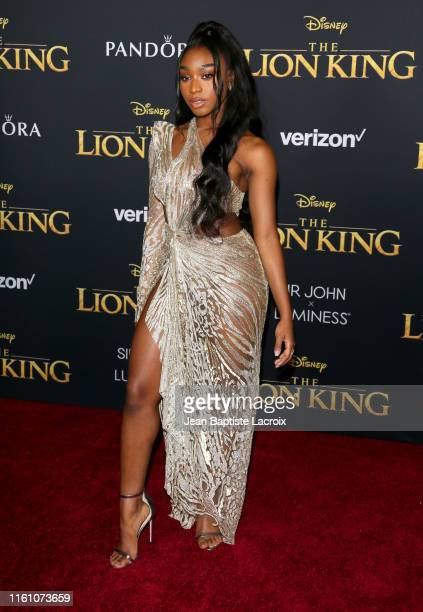 Normani attends the premiere of Disney's The Lion King at Dolby Theatre on July 09 2019 in Hollywood California