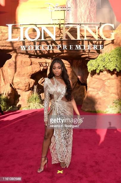 Normani attends the World Premiere of Disney's THE LION KING at the Dolby Theatre on July 09 2019 in Hollywood California