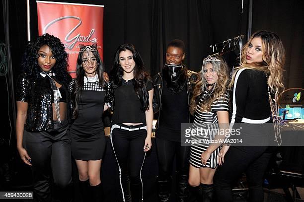 Normani Hamilton, Camila Cabello, Lauren Jauregui, Ally Brooke and Dinah Jane Hansen attend the 2014 American Music Awards UPS Gifting Suite at Nokia...