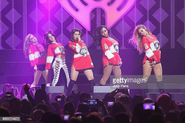 Normani Hamilton Dinah Jane Hansen Lauren Jauregui Camila Cabello and Ally Brooke of Fifth Harmony perform at the Y100's Jingle Ball 2016 at BBT...