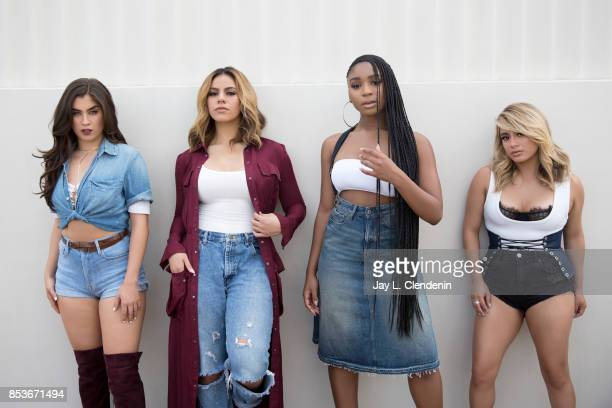 Normani Kordei Ally Brooke Dinah Jane Lauren Jauregui of the band Fifth Harmony are photographed for Los Angeles Times on August 1 2017 in Los...