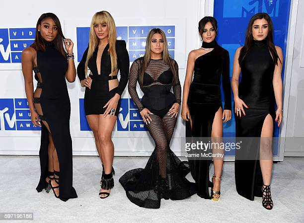 Normani Kordei Dinah Jane Hansen Ally Brooke Camila Cabello and Lauren Jauregui of Fifth Harmony attend the 2016 MTV Video Music Awards at Madison...