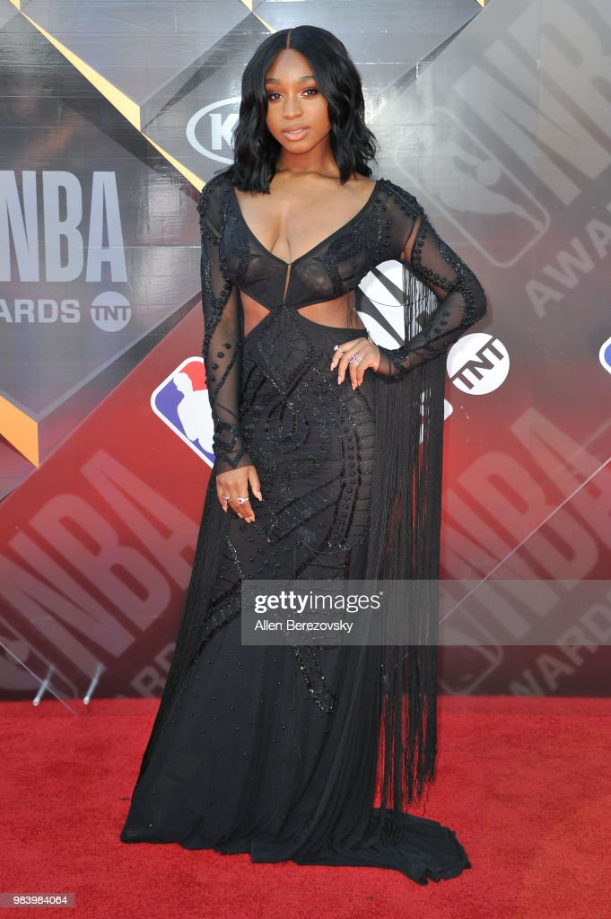 Normani Kordei Hamilton attends the 2018 NBA Awards Show at Barker Hangar on June 25, 2018 in Santa Monica, California.