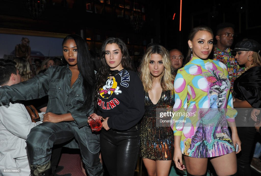 Normani Kordei, Lauren Jauregui Ally Brooke and Dinah Jane of Fifth Harmony at UGG x Jeremy Scott Collaboration Launch Event at The h.wood Group's 'Poppy' on August 27, 2017 in West Hollywood, California.