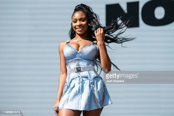 Normani performs at the 2019 Lollapalooza Music Festival at Grant Park on August 01 2019 in Chicago Illinois