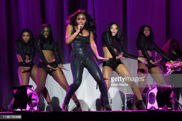 Normani performs onstage during the Ariana Grande Sweetener World Tour Opening Night at Times Union Center on March 18 2019 in Albany New York