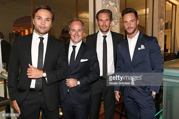 Normann Stadler Renaud Lestringant Northern Europe Managing Director Cartier Tino Schuster and Blogger Daniel Fuchs Instagram Magic Fox during the...