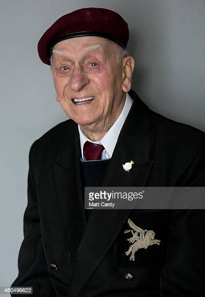 Normany veteran 100yearold Tom Tidmarsh poses for a photograph at his home in Shepton Mallett on April 17 2014 in Somerset England On DDay June 6...