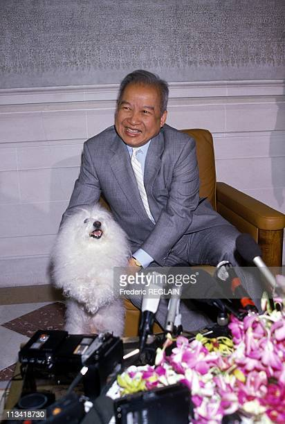 Norodom Sihanouk's Press Conference In Paris To Present His Peace Plan On July 21st In Paris,France