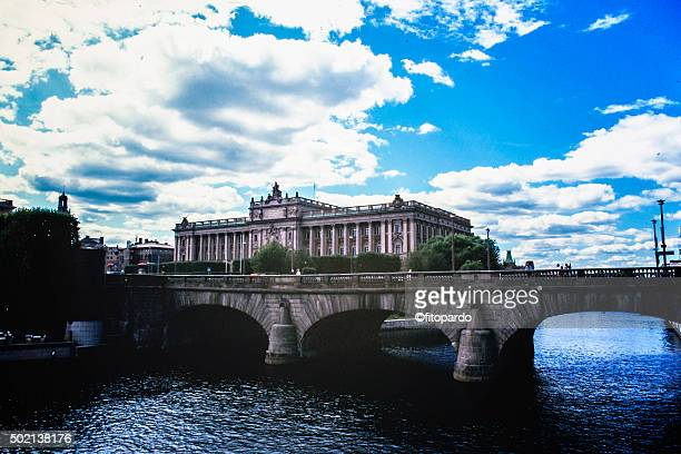 Norrbro bridge and the Parliament of Sweden the Riksdag