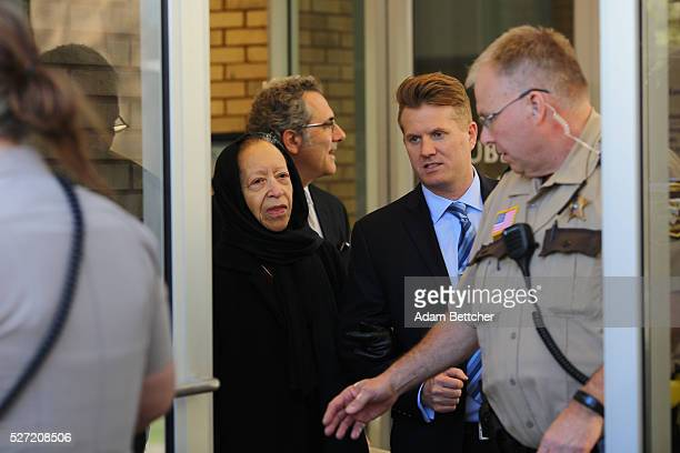 Norrine Nelson halfsister of Prince exits the Carver County court house after the first hearing on the musician's estate on May 2 2016 in Chaska...
