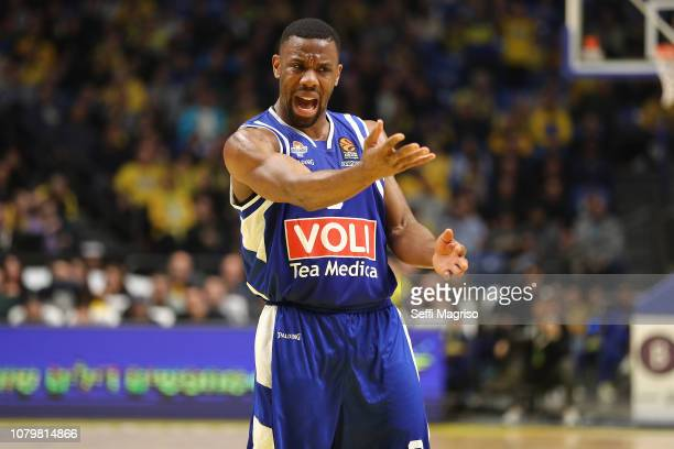 Norris Cole #3 of Buducnost Voli Podgorica in action during the 2018/2019 Turkish Airlines EuroLeague Regular Season Round 17 game between Maccabi...