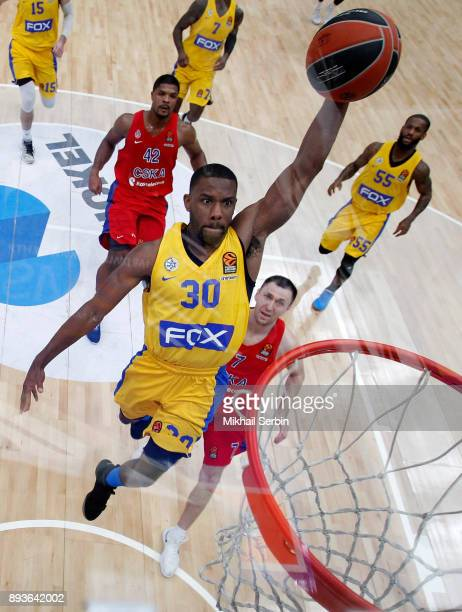 Norris Cole #30 of Maccabi Fox Tel Aviv in action during the 2017/2018 Turkish Airlines EuroLeague Regular Season Round 12 game between CSKA Moscow...