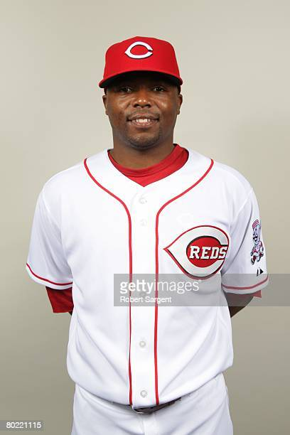 Norris Hopper of the Cincinnati Reds poses for a portrait during photo day at Ed Smith Stadium on February 22 2008 in Sarasota Florida