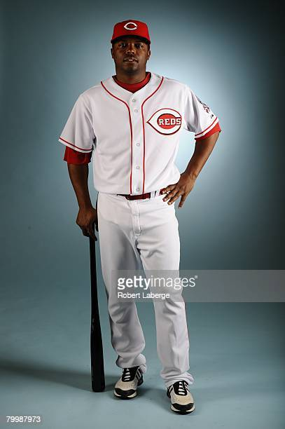 Norris Hopper of the Cincinnati Reds poses for a portrait during the spring training photo day on February 22 2008 at Ed Smith Stadium in Sarasota...
