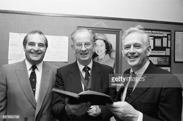 Norris McWhirter cofounder of the Guinness Book of records along with his brother Ross attends the Birmingham Press Club's annual dinner joined by...