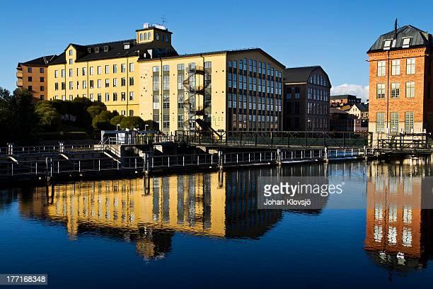 norrköping old industries - norrkoping fotografías e imágenes de stock