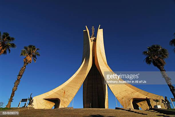 North Africa an iconic concrete monument commemorating the Algerian war for independence opened in 1982 for the 20th anniversary of Algeria's...