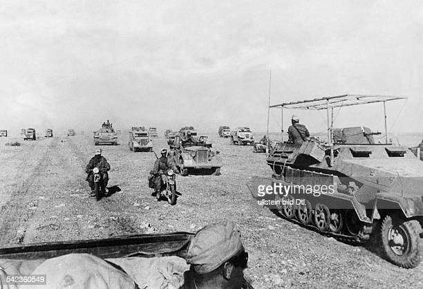 2WW North Africa war theater german Africa corps Feb41May43 Combats in the eastern Cyrenaika german motorized units in the region between Sidi Omar...