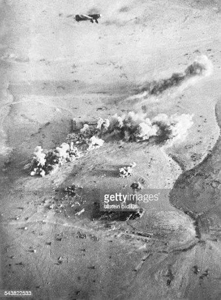 2WW North Africa war theater german Luftwaffe Feb41May43Besieged Tobruk german dive bombers Ju87 attacking Fort Pilastino before TobrukJune 1941