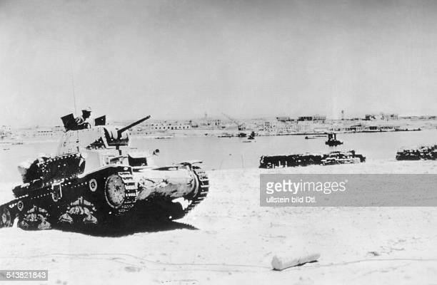 2WW North Africa war theater Germanitalian army After the fall of Tobruk foreground an italian tankabout
