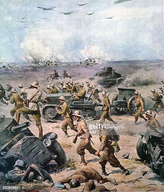 North African Campaign The italian invasion of Aegypt La Domenica del Corriere September 22nd 1940 Print A Beltrame The Italian Invasion of Egypt was...
