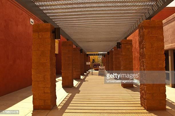 North America Arizona Tucson Biosphere 2 Entrance Corridor