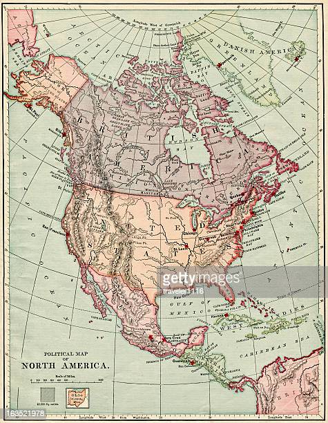 North America Map 1884 XXXL