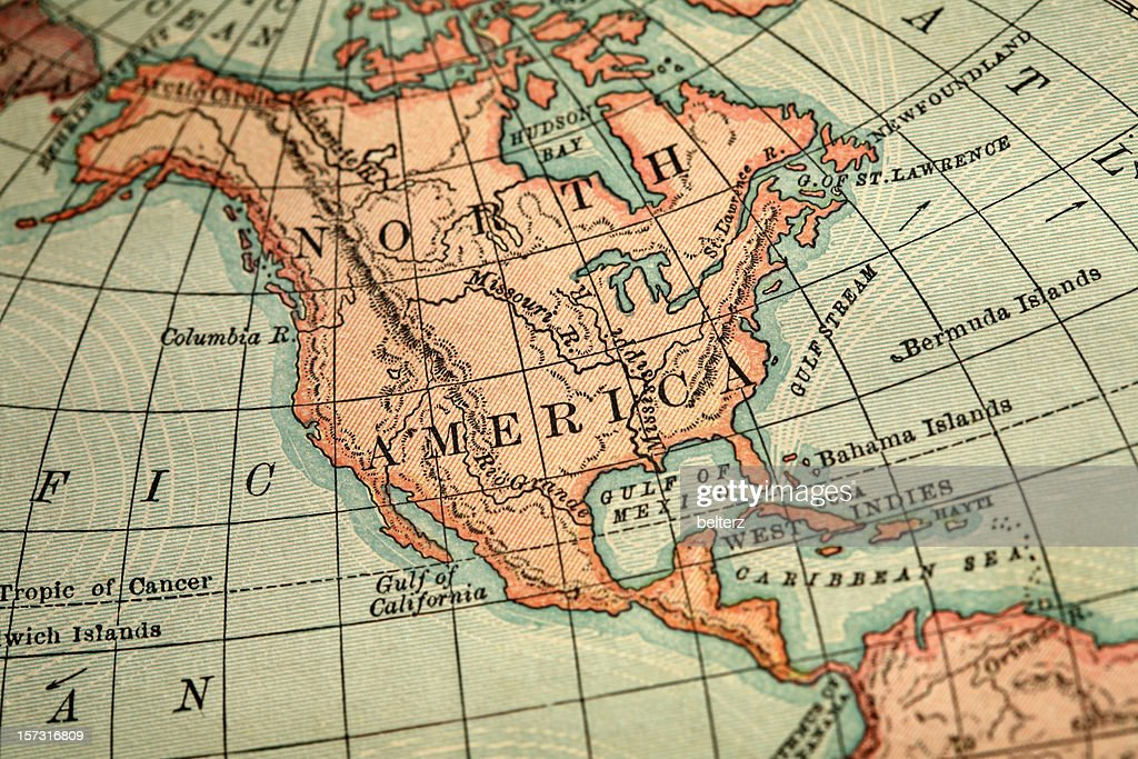 North America Map Stock Photo Getty Images