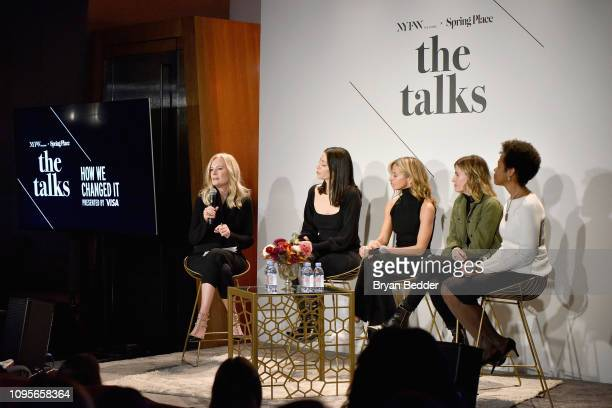 SVP North America Marketing for Visa Mary Ann Reilly CEO Founder of Reformation Yael Aflalo Creative Director Founder of Milly Michelle Smith DryBar...